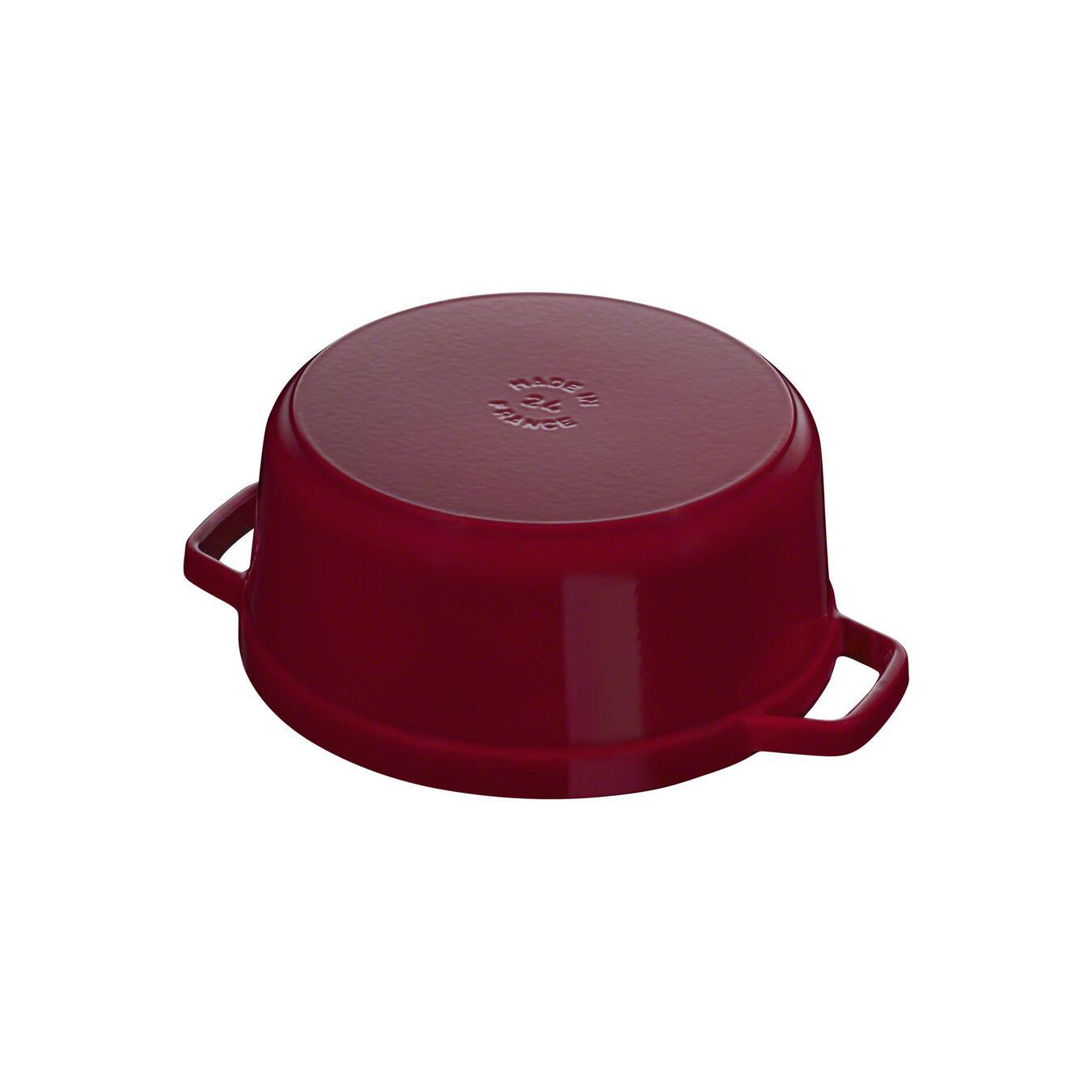 6,75 l Cast iron round Faitout, Bordeaux - Visual Imperfections,,large 7