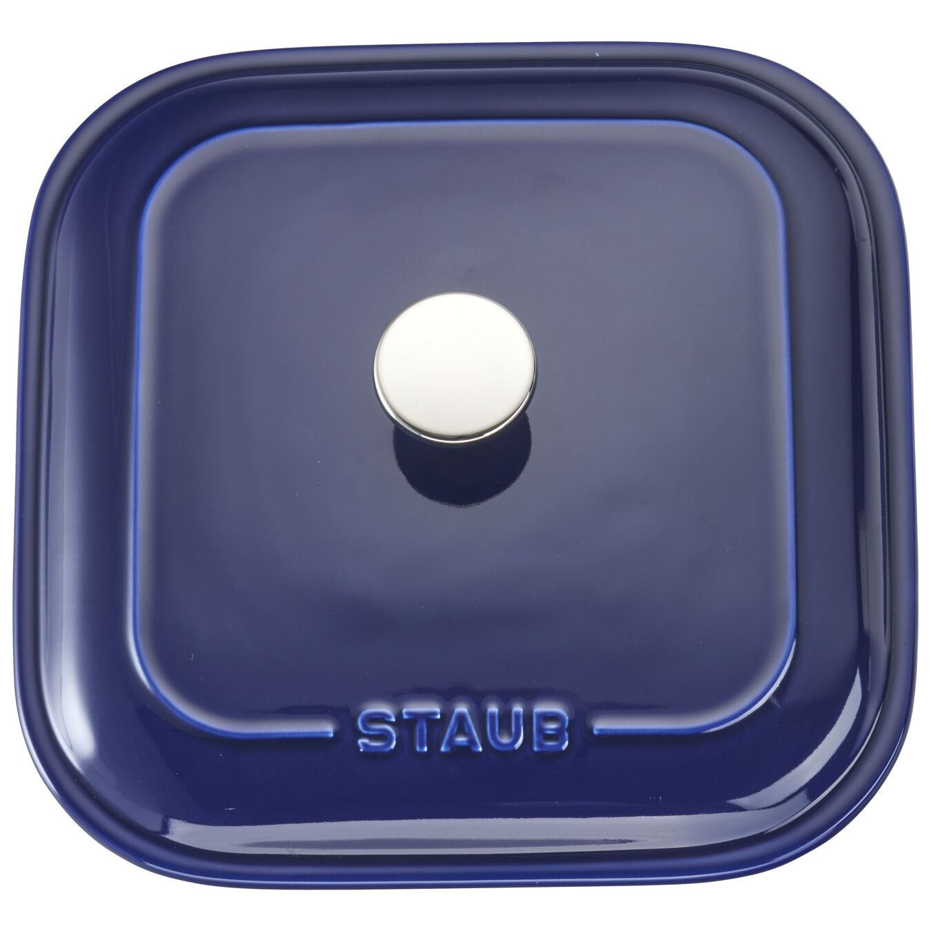 9-inch X 9-inch Square Covered Baking Dish - Dark Blue,,large 4