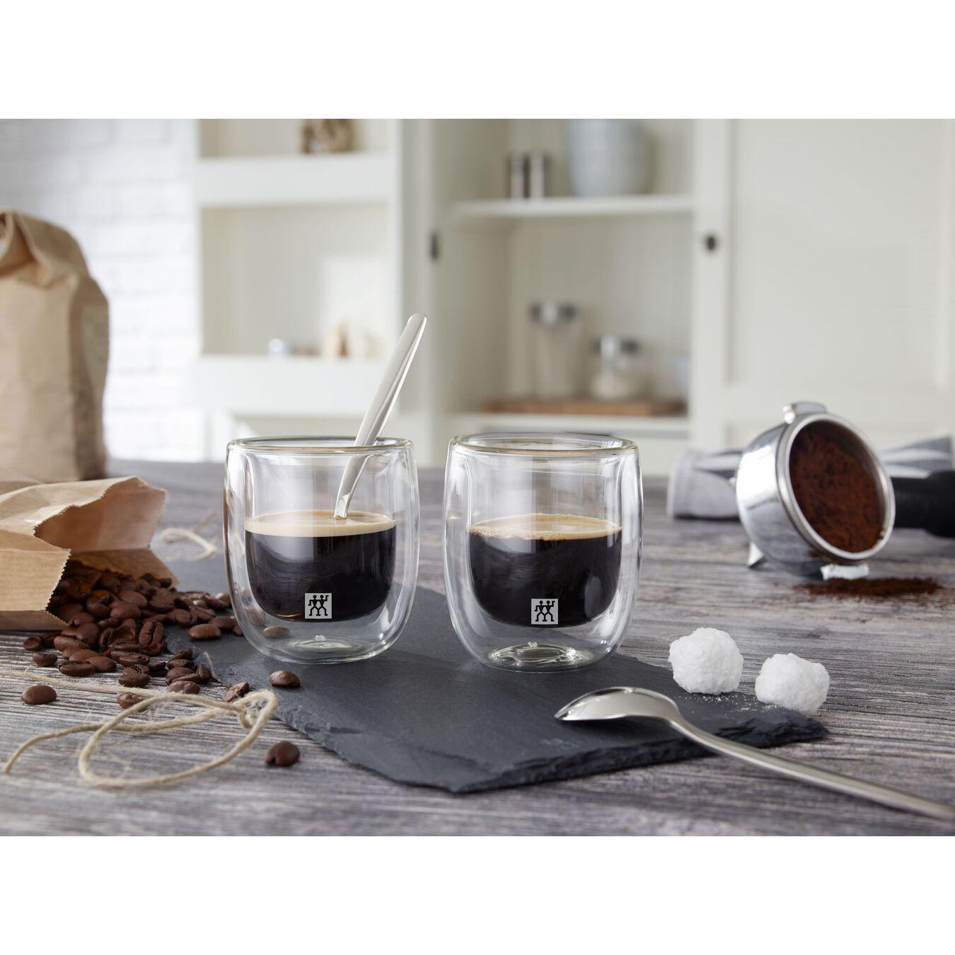 Doppelwandiges Glas, Espresso 80 ml / 2-tlg,,large 6