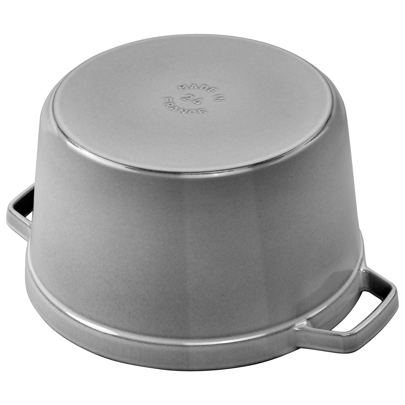 5 qt, round, Cocotte, graphite grey - Visual Imperfections,,large 2