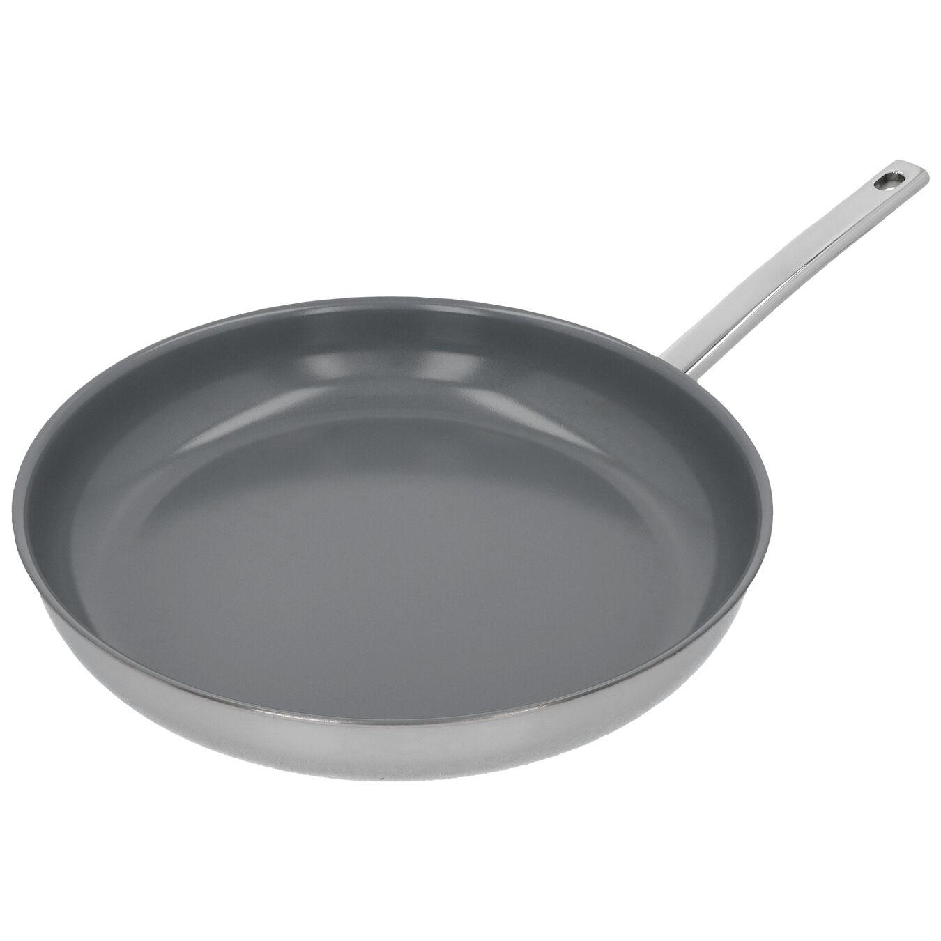 Stekpanna 32 cm, 18/10 Rostfritt stål, Silver,,large 2