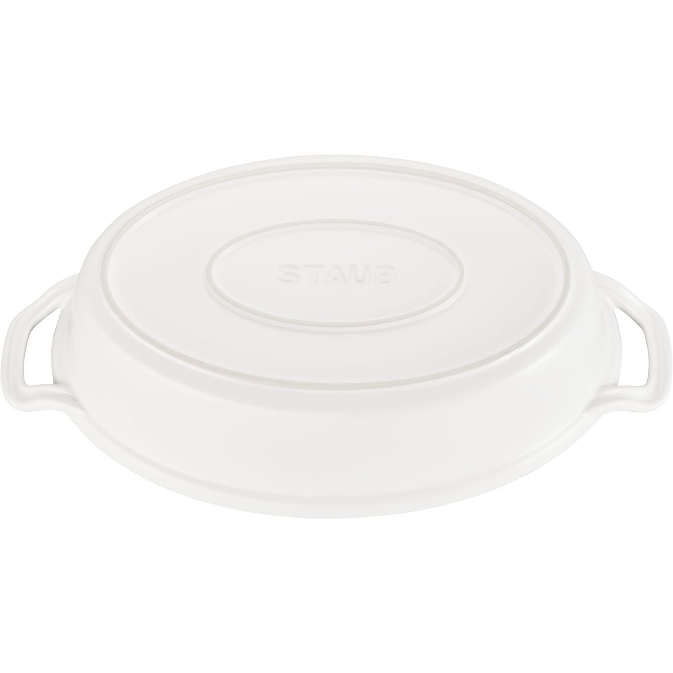 Special shape bakeware, matte white,,large 2