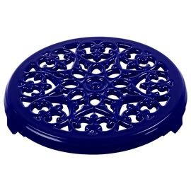 Staub Cast Iron - Accessories, 9-inch, round, Cast Iron Lilly Trivet, dark blue