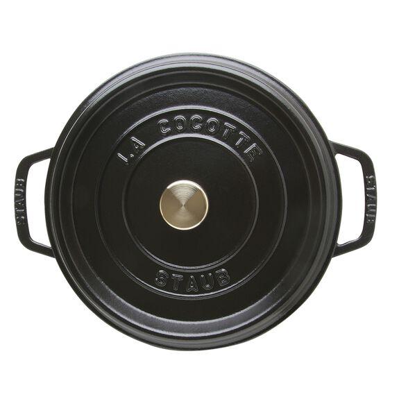 4-qt round Cocotte, Black,,large 4