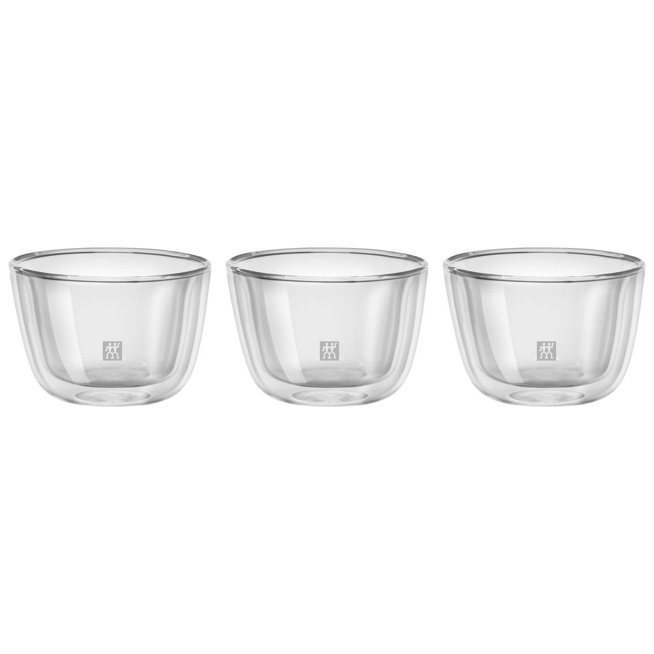 3 PIECE DOUBLE-WALL GLASS TAPAS/APPETIZER BOWL SET,,large 1