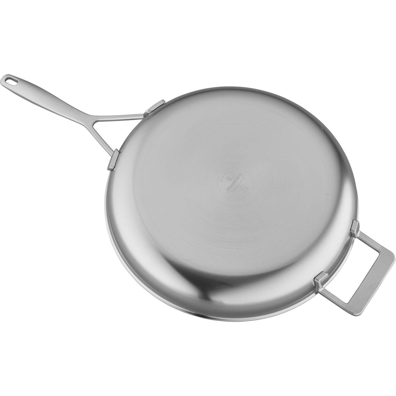 Poêle 32 cm, Inox 18/10, Argent,,large 2