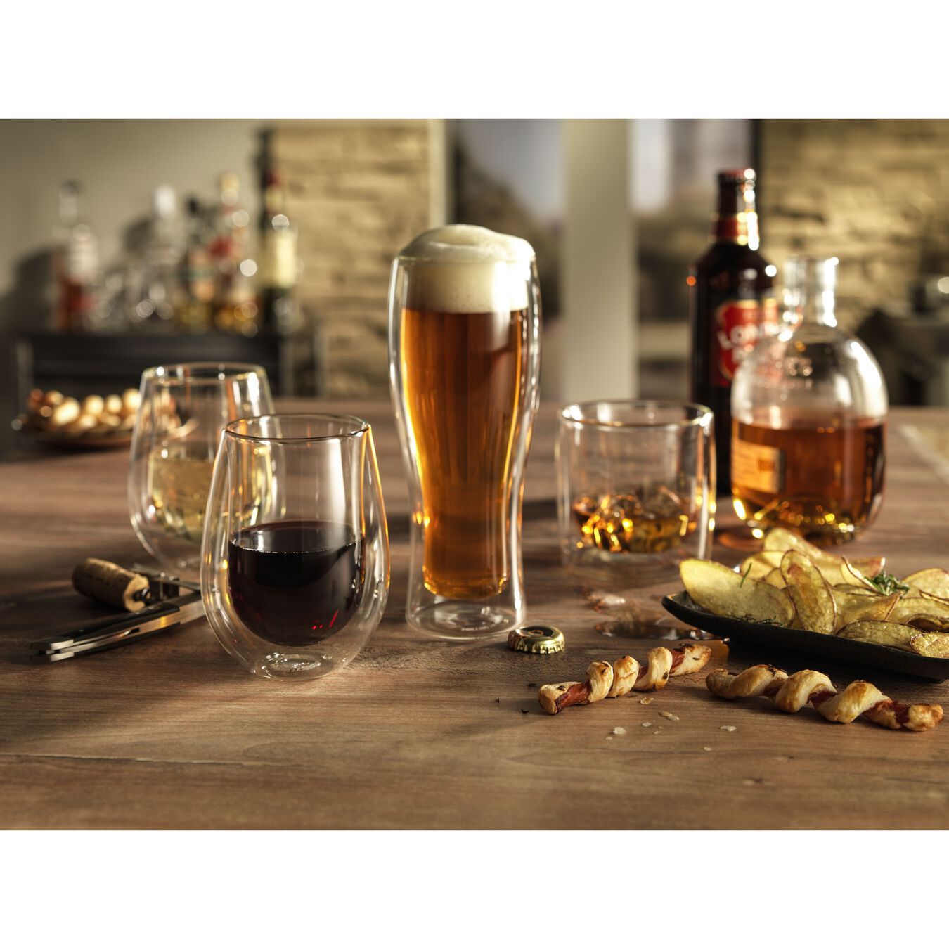 2 Piece Double-Wall Beer Glass Set,,large 3