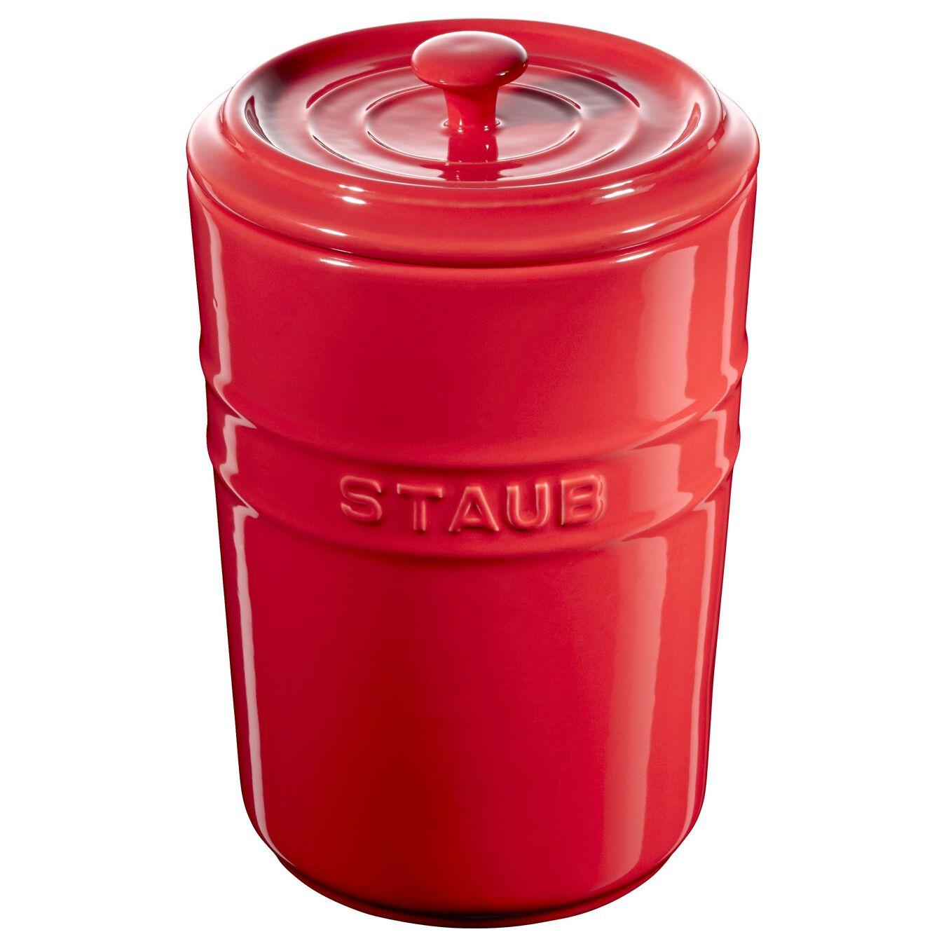 1.5 l Ceramic Storage pot, cherry,,large 1