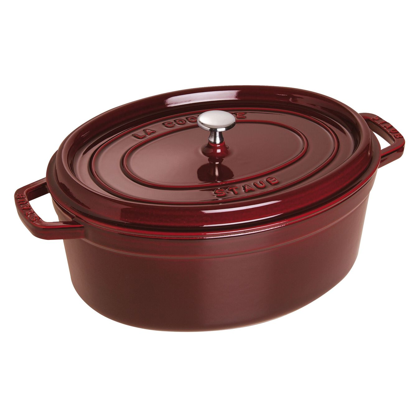 3.25 l Cast iron oval Cocotte, Grenadine-Red,,large 1