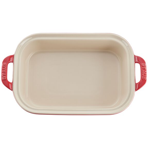Ceramic Rectangular Covered Baking Dish, Cherry,,large 2