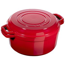 Staub Cast iron, 5.5-qt Braise & Grill - Visual Imperfections - Cherry