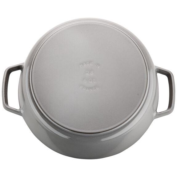 6-qt round Cocotte, Graphite Grey,,large 5