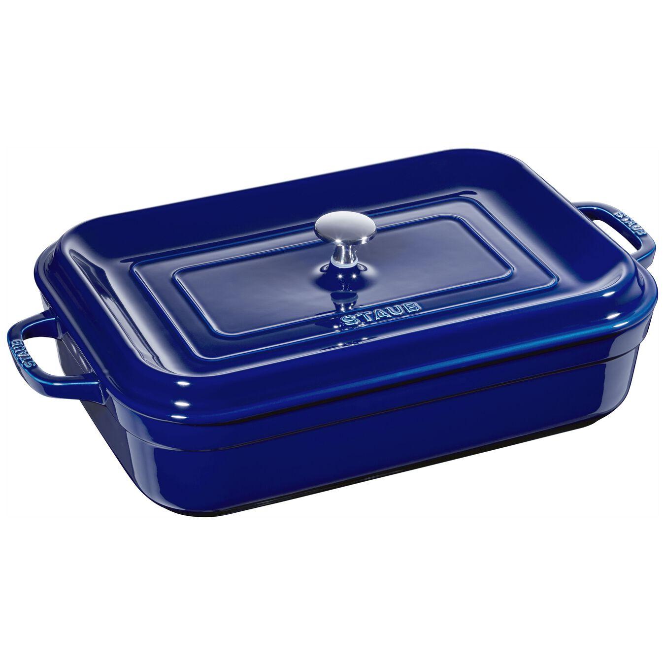 rectangular Oven dish, dark-blue,,large 1