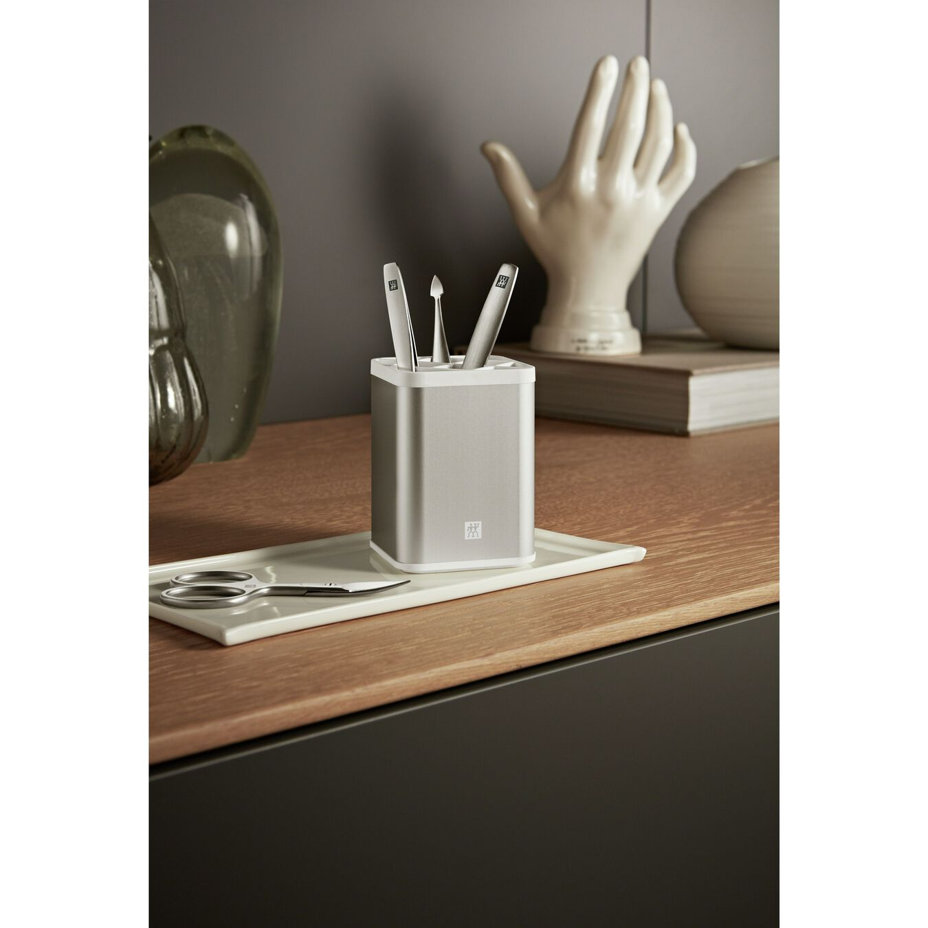 6-pc Manicure station, stainless steel ,,large 4