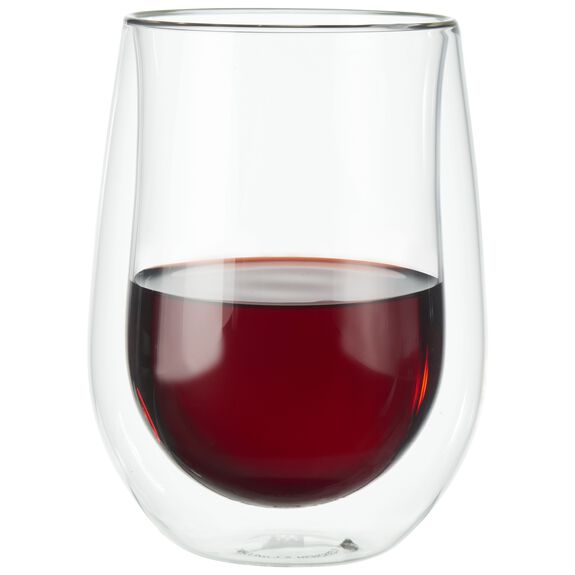 2-pc Double-Wall Glass Red Wine Glass Set,,large