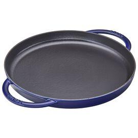 Staub Cast Iron, 12-inch round Griddle, Dark Blue