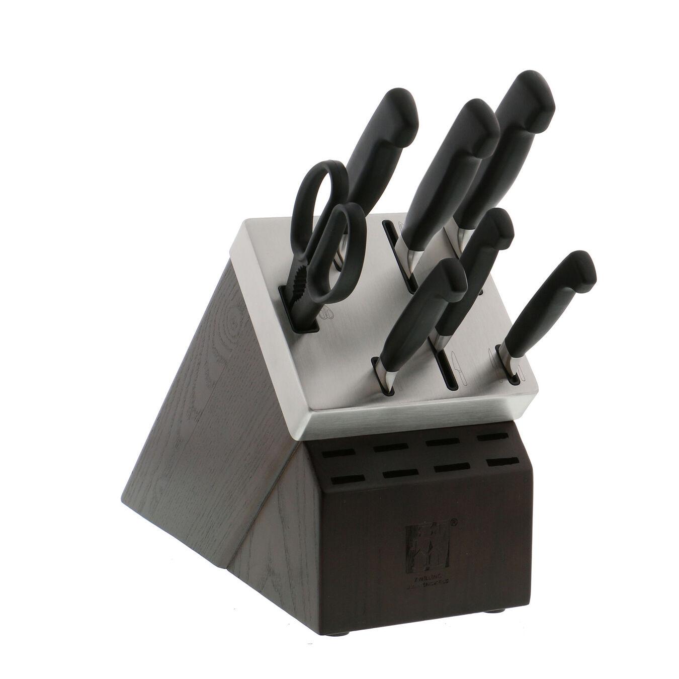 8-pc, Knife block set, natural,,large 3