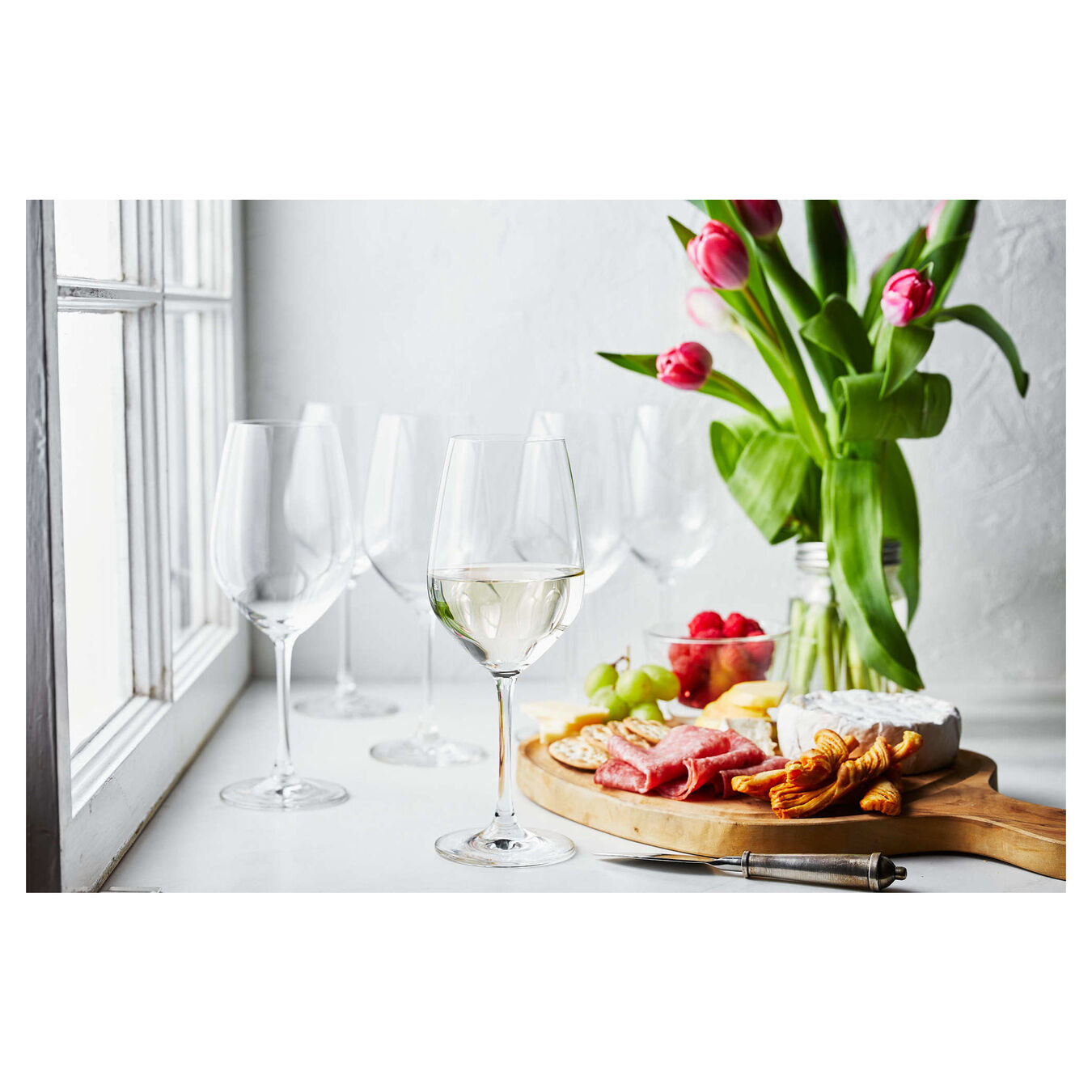 13 oz / 6-pc  Burgundy White Glass,,large 3