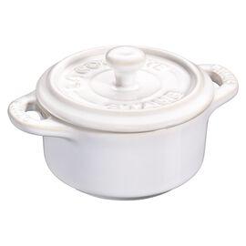 Staub Ceramique, Mini Cocotte 10 cm, rund, Elfenbein-Weiß, Keramik