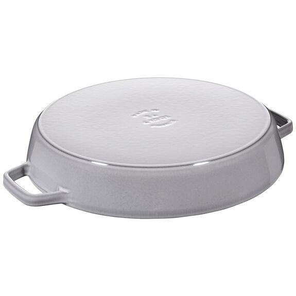 13.5-inch round Enamel Paella pan, Graphite Grey,,large 2