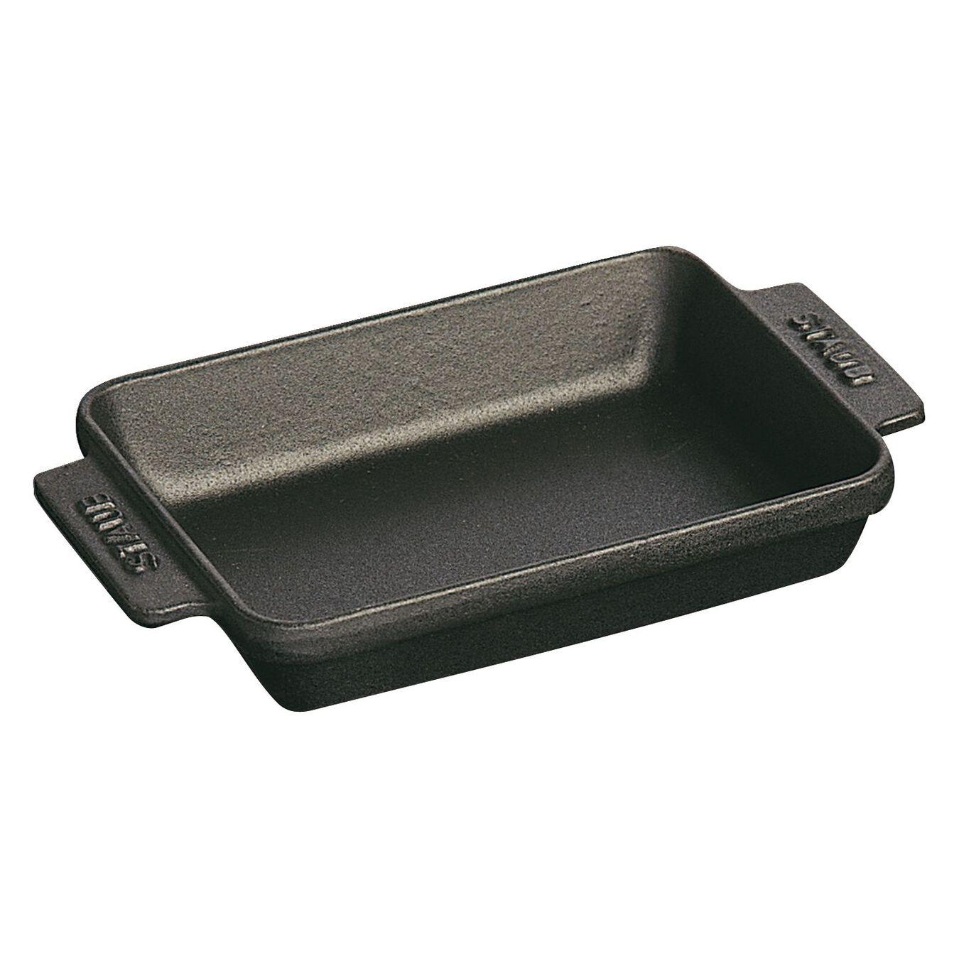 Cast iron rectangular Oven dish, Black,,large 1