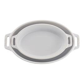 Staub Ceramics, 2-pc, oval, Bakeware set, white