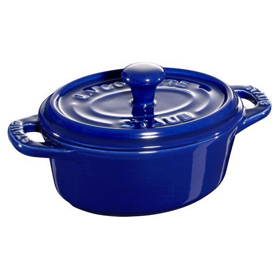Mini seramik kap, 11 cm | Koyu Mavi | Oval | Seramik,,large