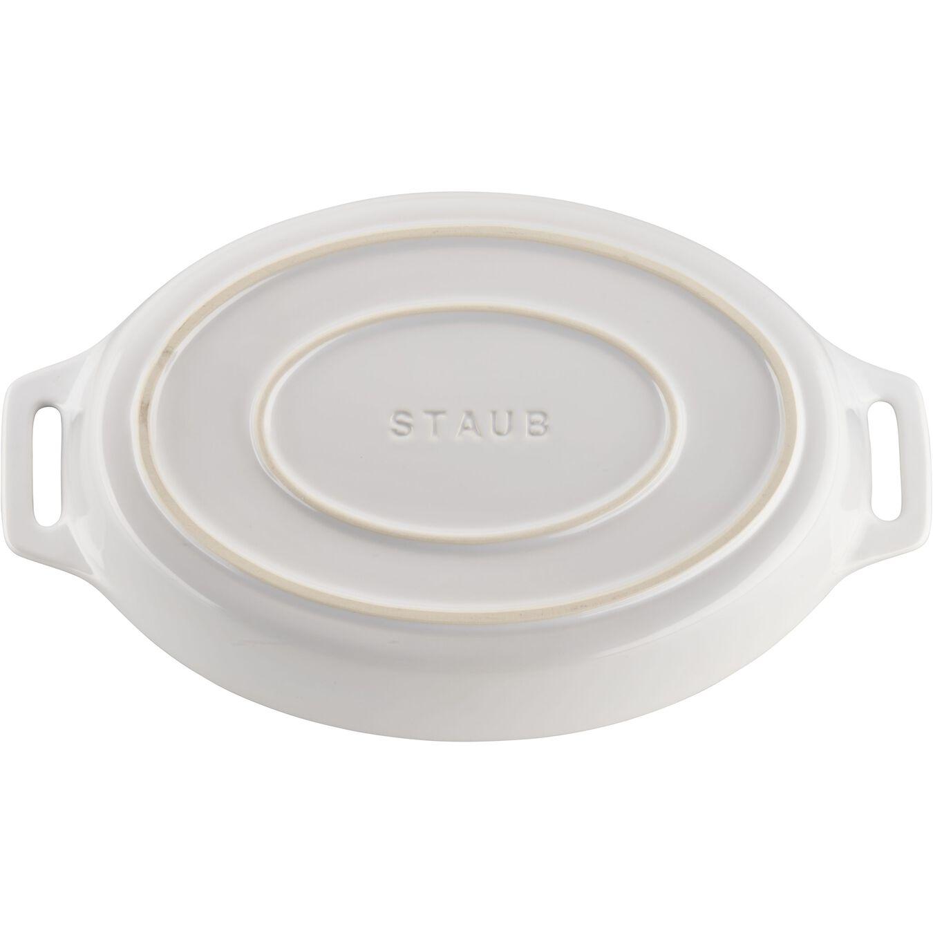2-pc, oval, Bakeware set, white,,large 5