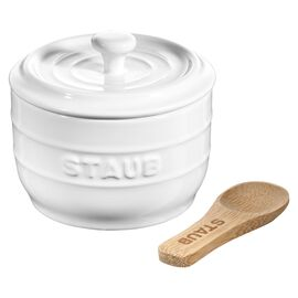 Staub Ceramique, 8 cm Ceramic Salt crock, pure-white