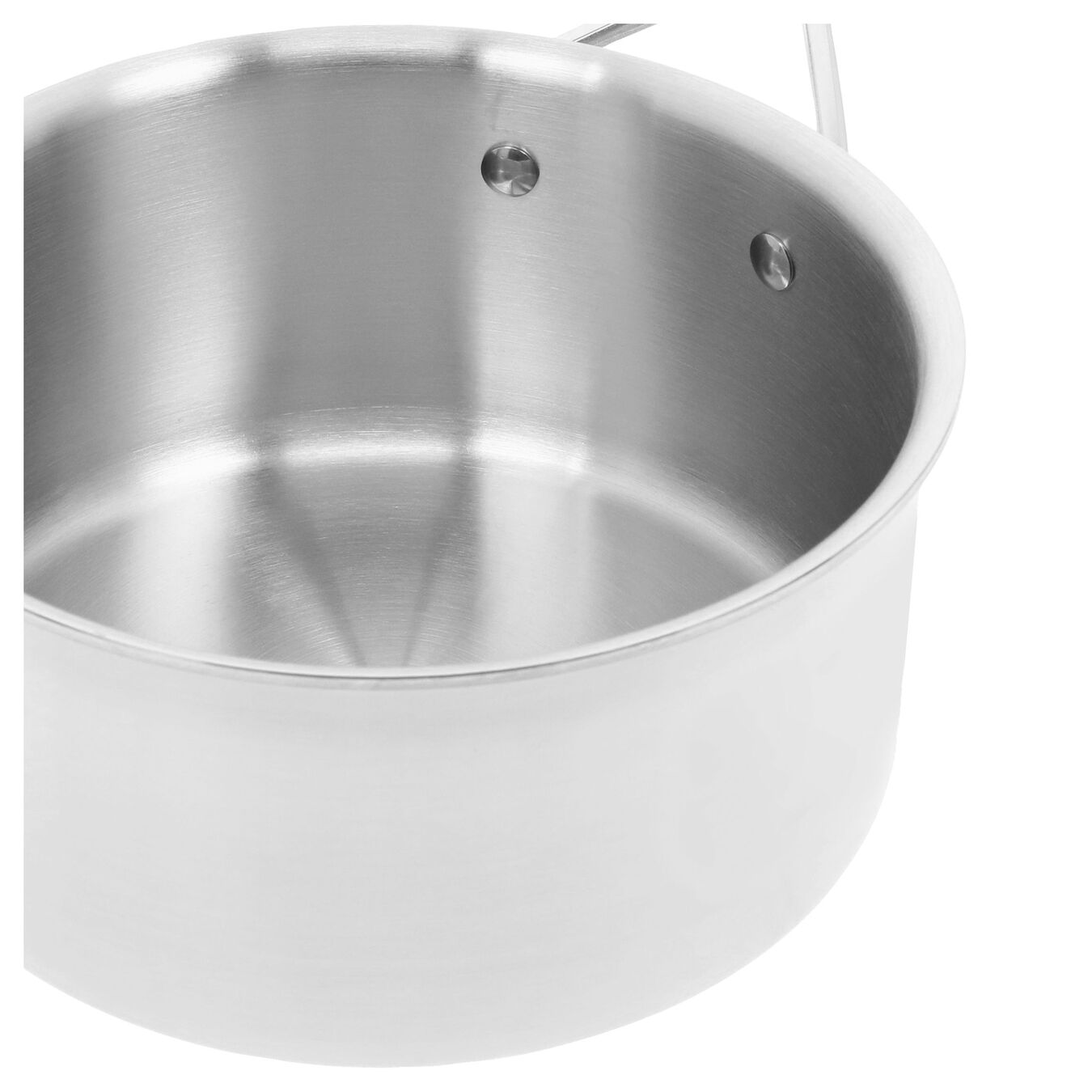 2.8 l round sauce pan with lid 3QT, silver,,large 6