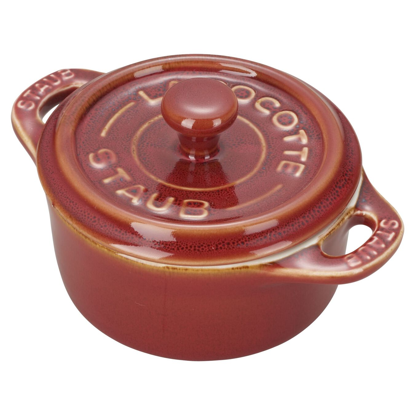 3-pc Mini Round Cocotte Set - Rustic Red,,large 6