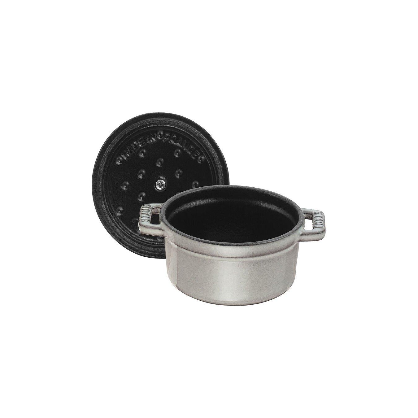 Mini cocotte rotonda - 10 cm, grigio grafite,,large 5