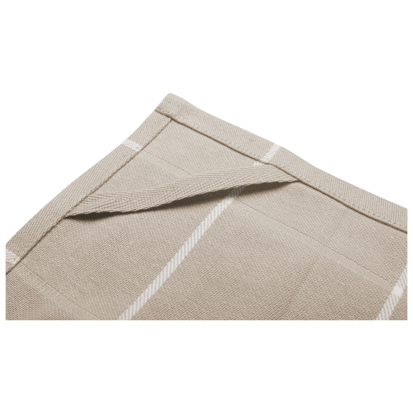2 Piece Cotton Kitchen towel set checkered, taupe,,large 5