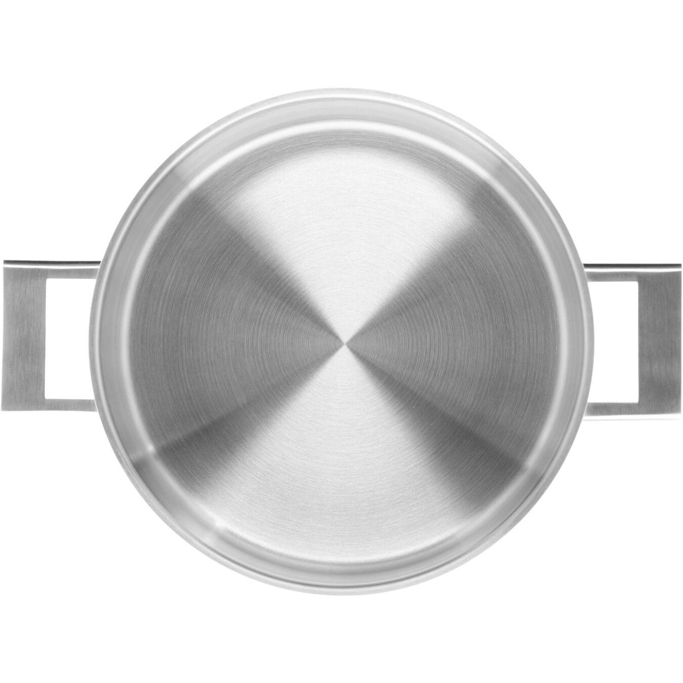 Sığ Tencere çift çıdarlı kapak | 18/10 Paslanmaz Çelik | 24 cm | Metalik Gri,,large 2
