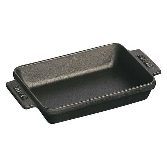Mini tabak, 15 cm x 11 cm   Siyah   Döküm Demir   Dikdörtgen,,large