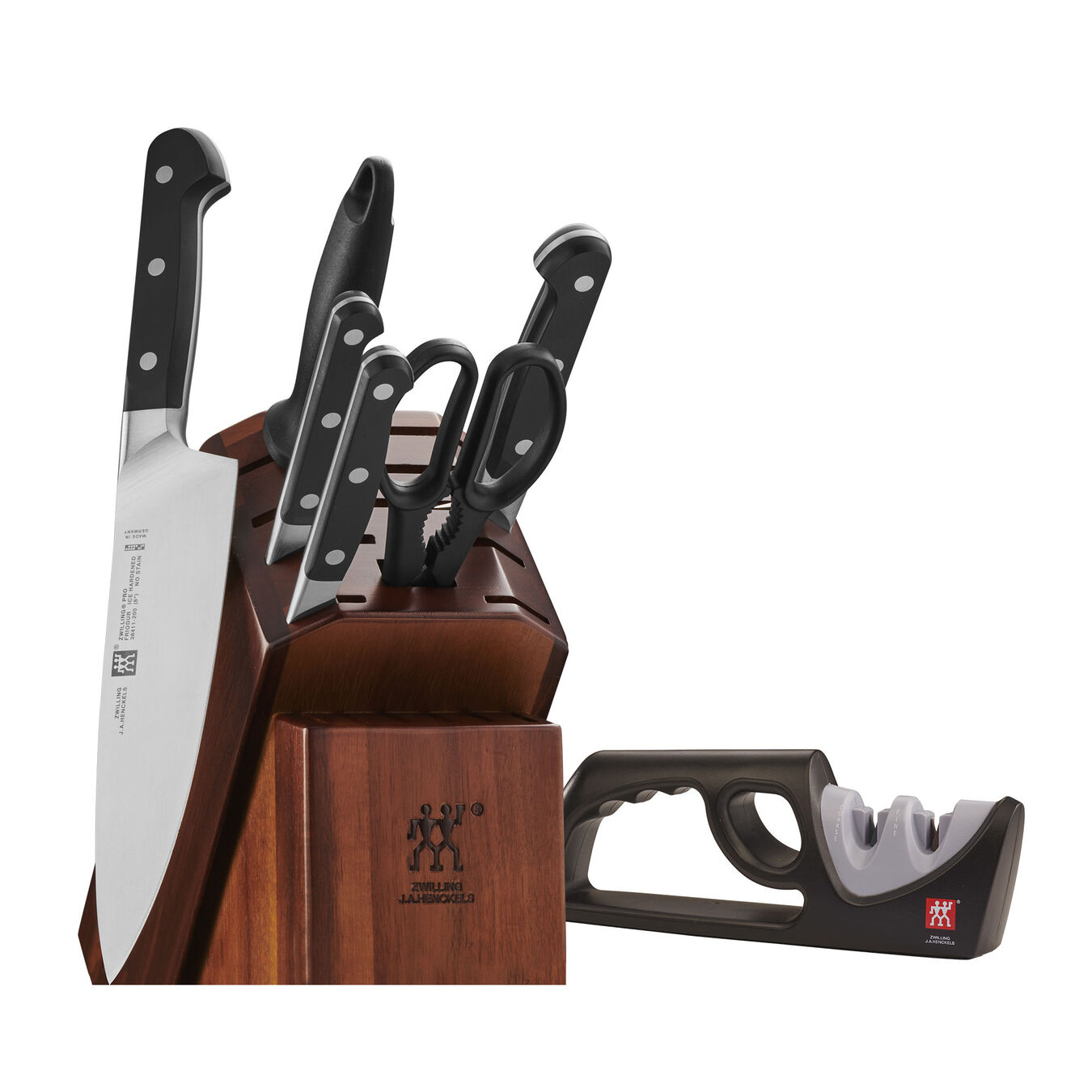 7-pc Knife Block Set with Bonus Sharpener,,large 1
