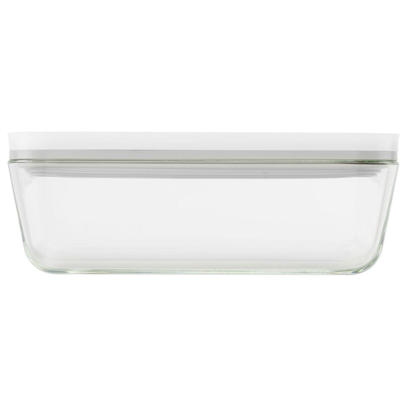 Vacuum Kühlschrankbox, Borosilikatglas, Weiß,,large 2