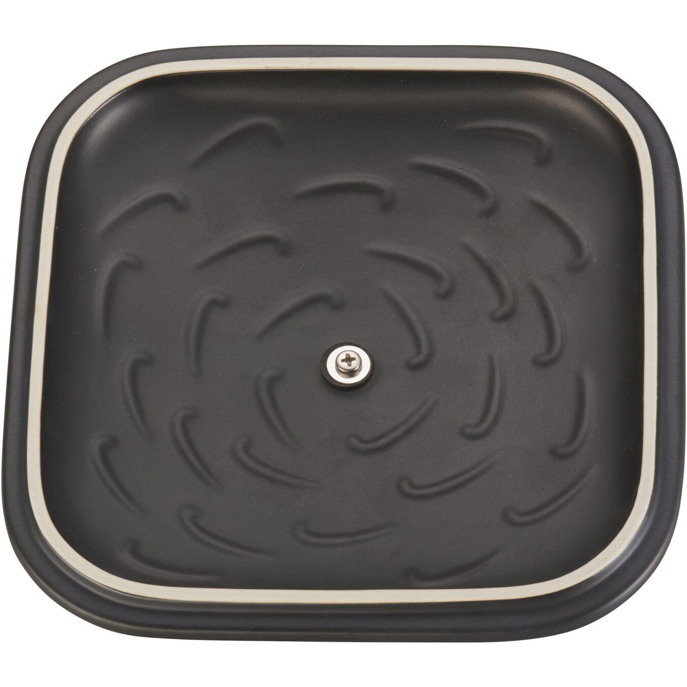 9-inch, square, Oven dish, black matte,,large 3