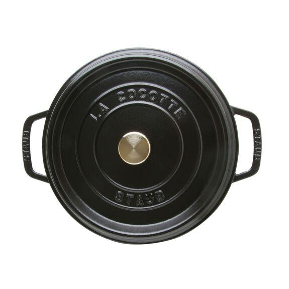 4-qt round Cocotte, Black,,large 3