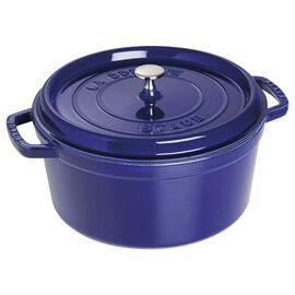 Staub Cast Iron, 7-qt Round Cocotte - Dark Blue