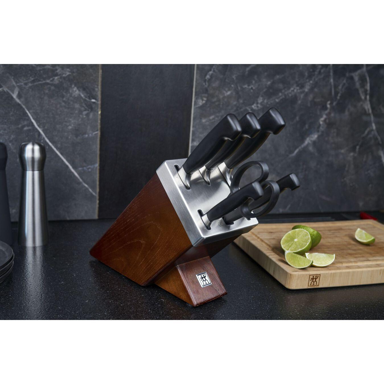 Set di coltelli con ceppo con sistema autoaffilante - 7-pz.,,large 7