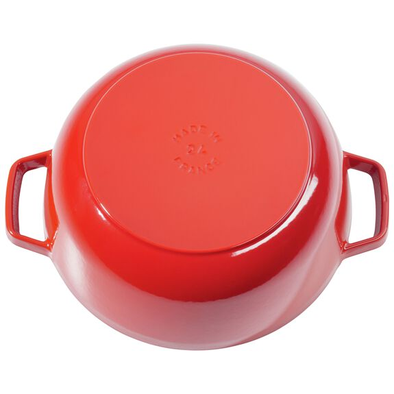 3.75-qt round French oven, Bordeaux - Visual Imperfections,,large 2