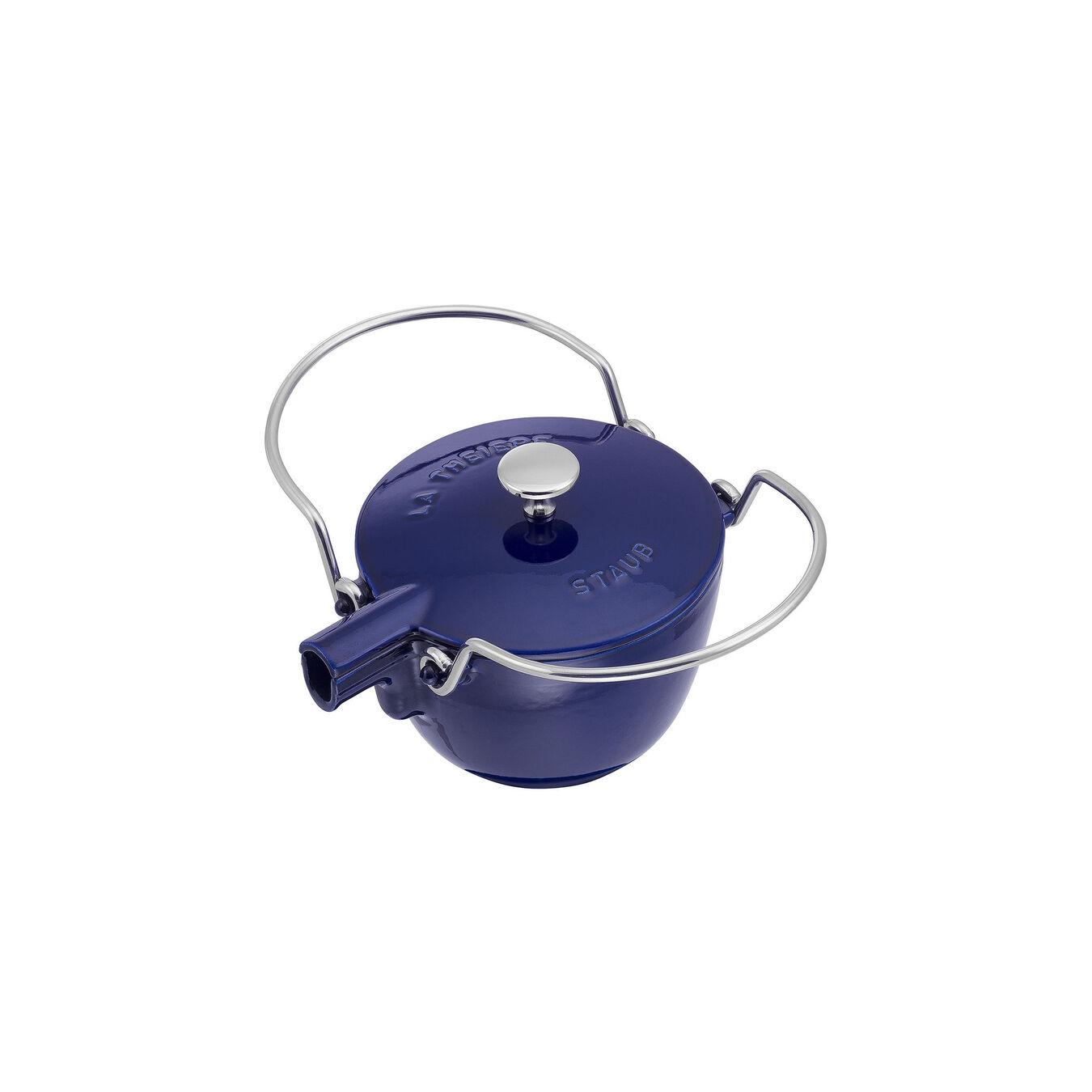 1.25 qt, round, Tea pot, dark blue,,large 2