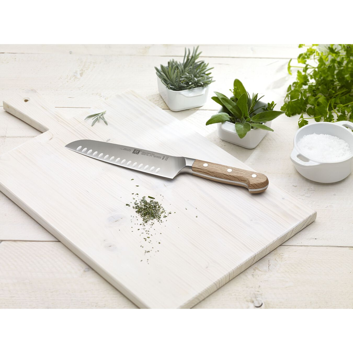 Couteau santoku 18 cm, Nature, Chêne vert,,large 2