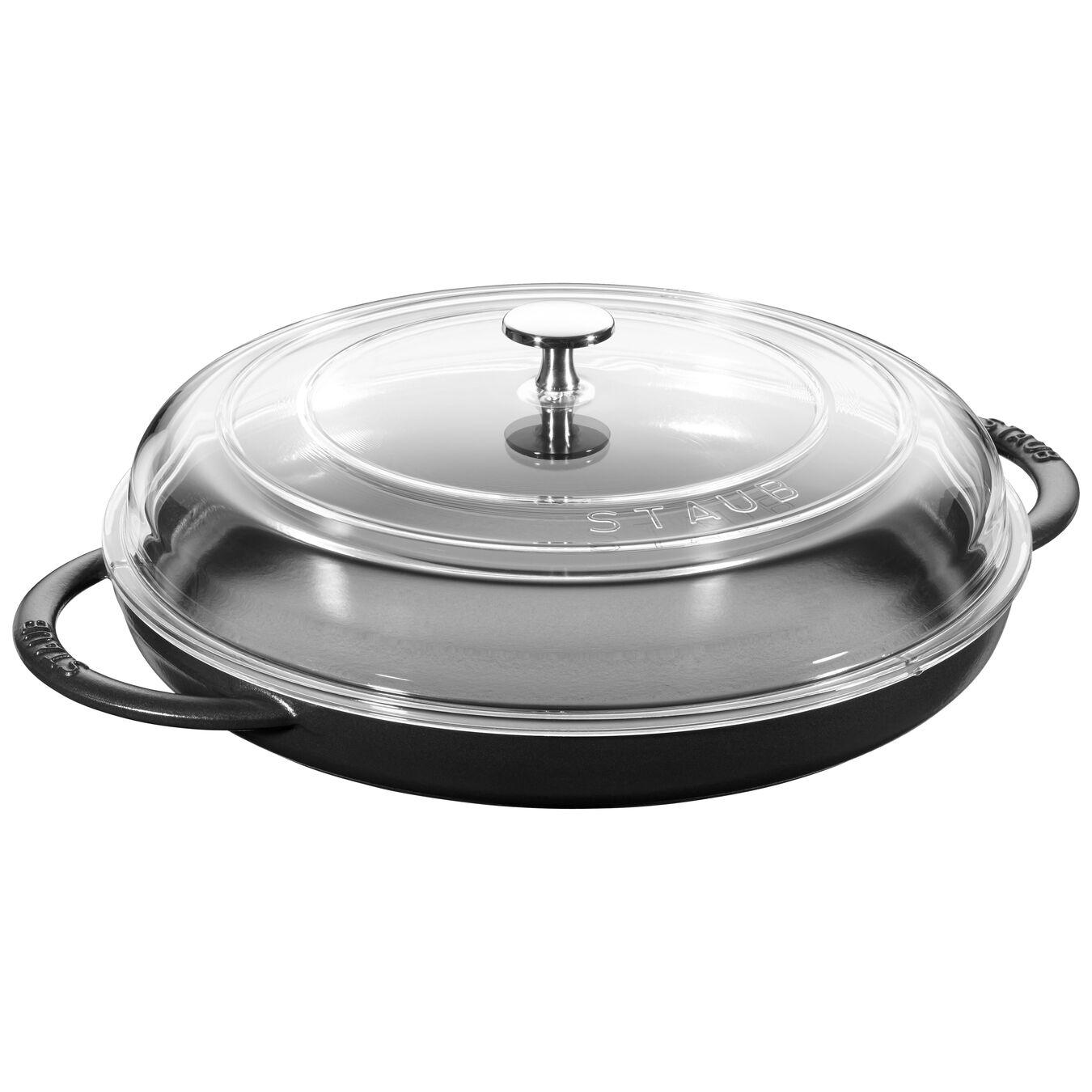 12-inch Round Steam Griddle - Matte Black,,large 1
