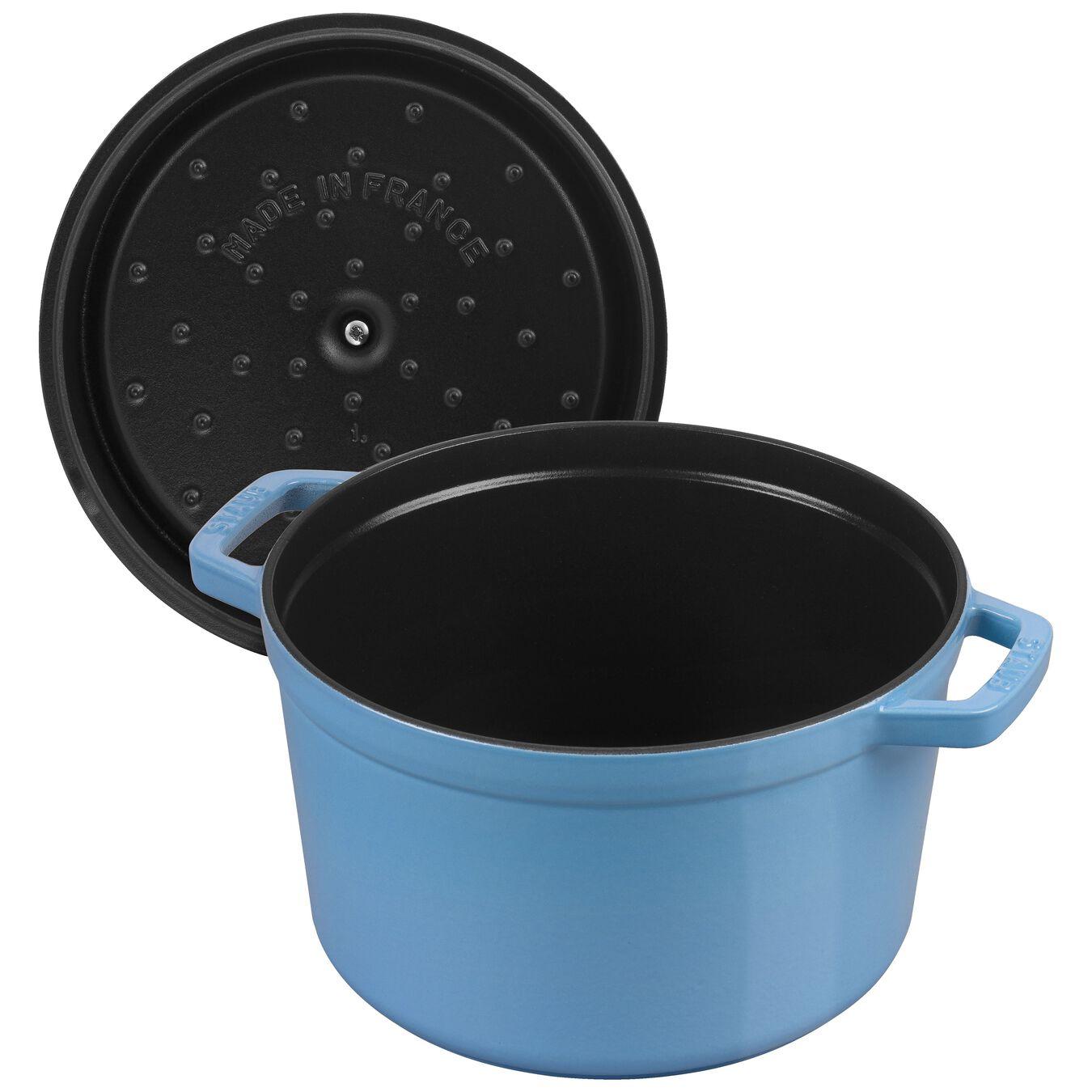 4,75 l Cast iron round Poêle à frire en fonte, Ice-Blue,,large 5