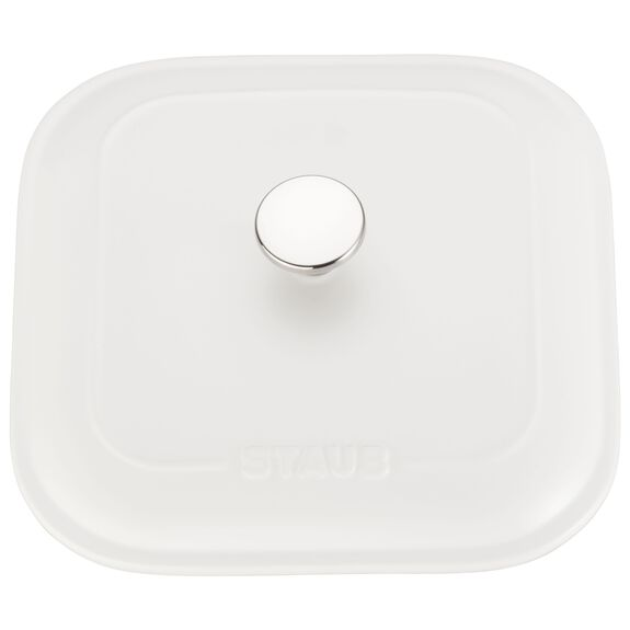 9-inch X 9-inch Square Covered Baking Dish - Matte White,,large 2