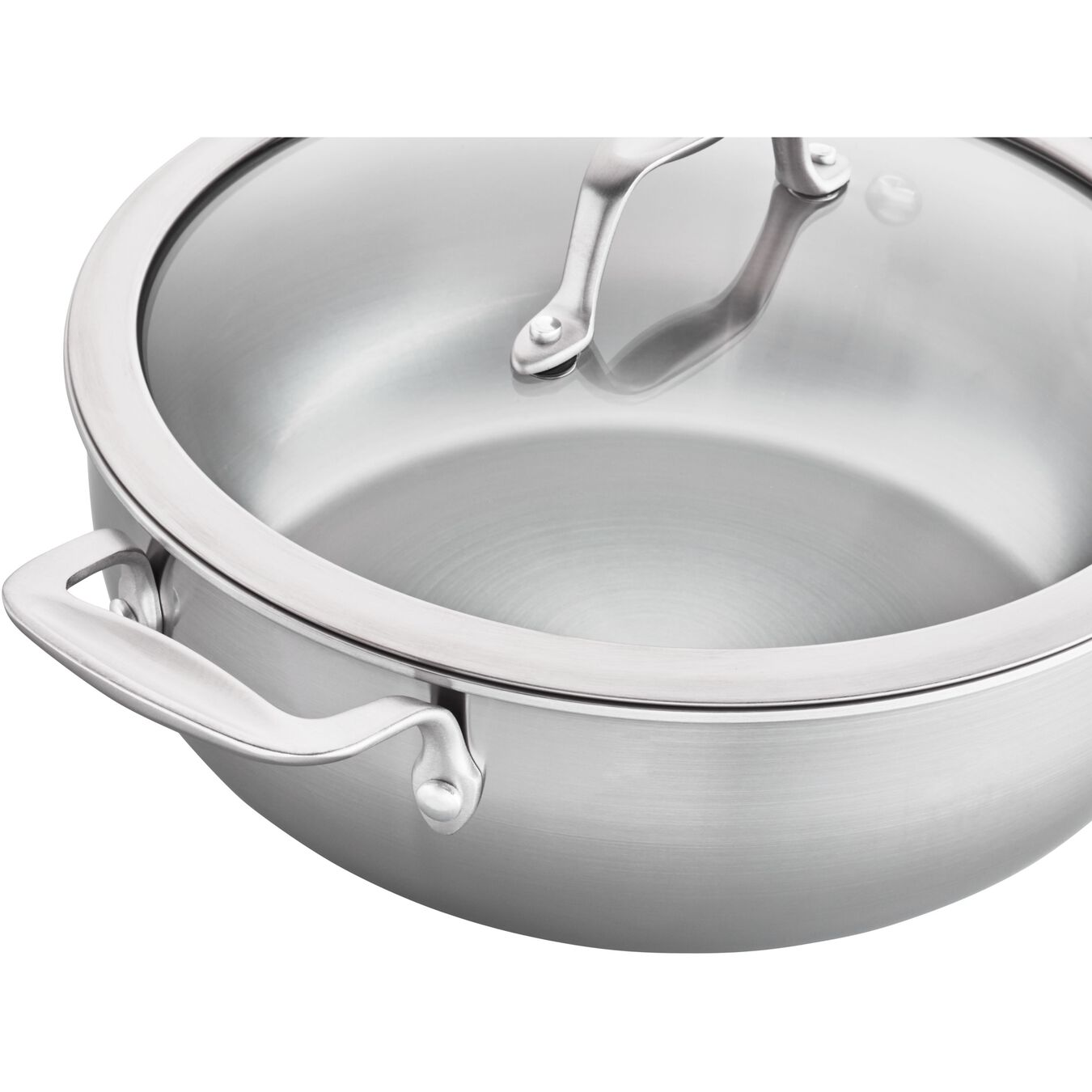10-inch, 18/10 Stainless Steel, Non-stick, Saute pan,,large 2