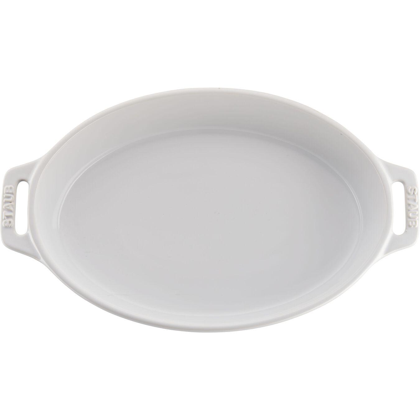 2-pc, oval, Bakeware set, white,,large 2