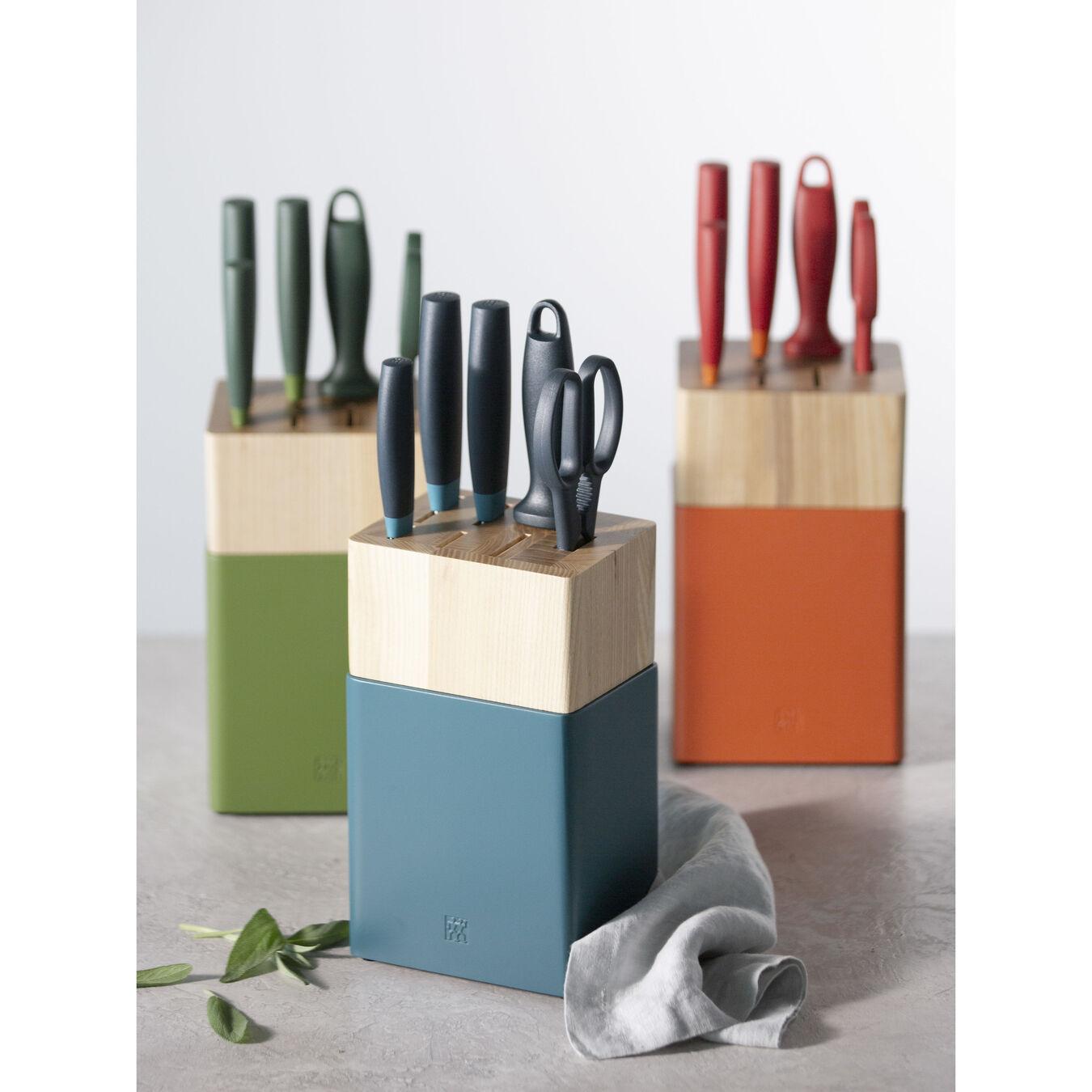8-pc Knife Block Set - Blueberry Blue,,large 5